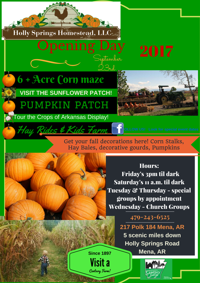 Corn Maze Admission Hours Fall 2017